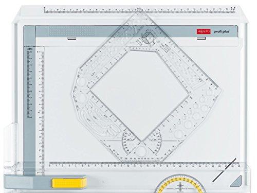 Aristo AR7096 Zeichenschablone Ausbildung II (Winkel/Kreise/Ellipsen usw., 180 x 180 mm) transparent