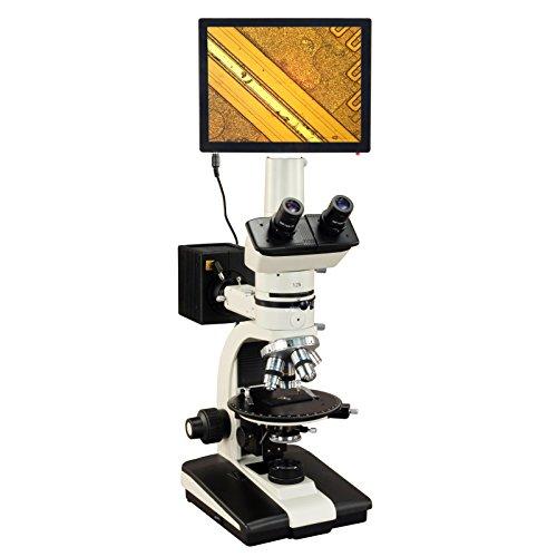 OMAX 50X-787.5X Touchpad Screen Trinocular Ore Petrographic Polarizing Microscope with Bertrand Lens