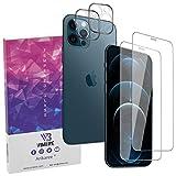 Pellicola Vetro Temperato Massima Protezione Display 0,4mm Apple iPhone 12 Pro (6,1 Pollici) Vetrino Fotocamera Posteriore Antiriflesso Antimpronte Resistente Graffio Protettivo Camera Arikaree