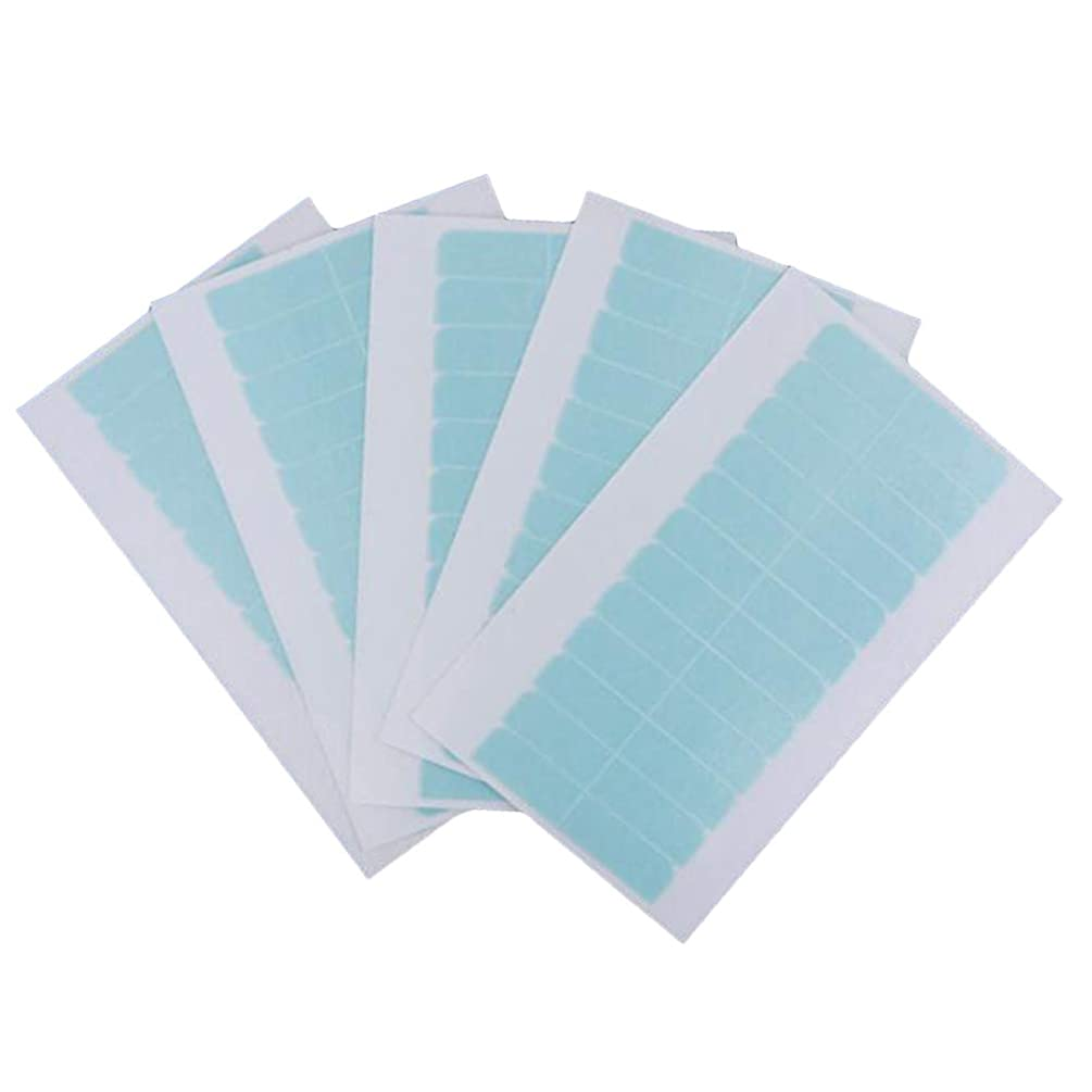 弁護行動櫛Lurrose 60PCSシームレスなヘアエクステンションテープかつらエクステンションテープダブルサイドレディースガールレディース(ブルー)