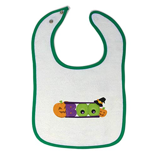 Toddler & Baby Bibs Burp Cloths Boo Pumpkin Halloween Clipart Cotton Items for Girl Boy Gifts Ae White Green Design Only