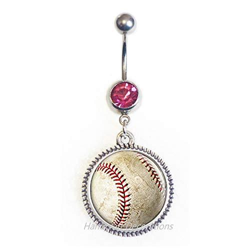 Baseball Belly Ring,Baseball Charm,Baseball Belly Button Ring,Baseball Jewelry,Baseball Friend,Baseball Sister,Baseball Mom,Baseball .F237