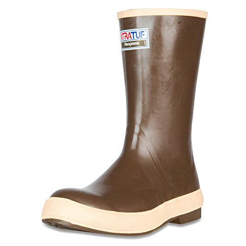 "XTRATUF Legacy Series 12"" Neoprene Men's Fishing Boots, Copper & Tan (22172G)"