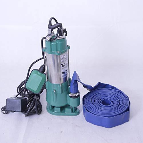 IBO / DAMBAT !! Profi !! Fäkalienpumpe Tauchpumpe Schmutzwasserpumpe 370W mit Schneidmesser V370 +10 m Flachschlauch. Max. Druck: 0,75 bar Max. Fördermenge: 7800l/h = 130 l/min.