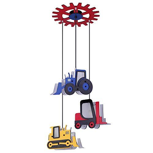 Globo 15731-3H - Lámpara de techo infantil, diseño de tractor