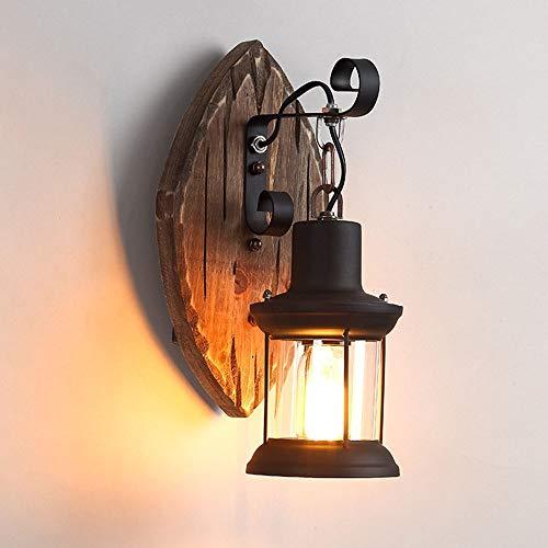 MQW Iron Personality Retro Industrial LED Pared Restaurante Cafetería Bar Decoración Hogar Antigua Lámpara de Pared Lámpara de Salón Luces