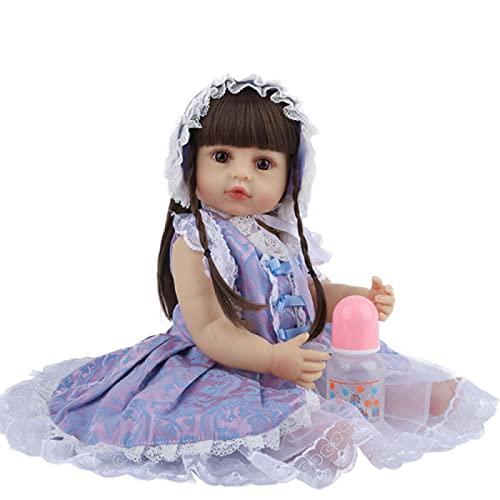 SWEGFDHNT MuñEcas Reborn Silicona Blanda, 22 Pulgadas / 55 Cm MuñEca Renacida NiñO, con Accesorios para Vestidos De Princesa Silicona De Cuerpo Entero Renacida, Over 3 Years + Toys For Boys and Girls