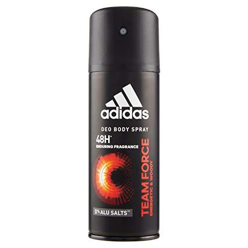 Adidas, Team Force Deodorante Spray Uomo, 24 Ore di Freschezza, 150 ml