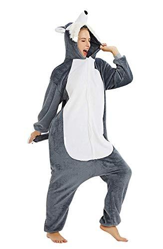 ABYED Einhorn Kostüm Jumpsuit Onesie Tier Fasching Karneval Halloween kostüm Damen mädchen Herren Kinder Unisex Cosplay Schlafanzug