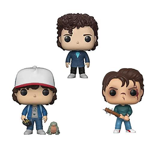 3 Piezas Figura Pop Serie De Películas De Terror Figura De Acción # 475 Steve # 593 Dustin # 617...
