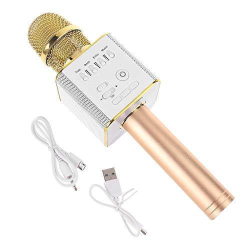 Micrófono inalámbrico, teléfono móvil, reproductor de karaoke, altavoz Bluetooth universal, música para fiestas, canto, disco en U, reproductor MP3