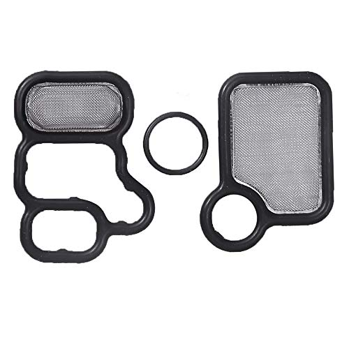 15815-RAA-A02 15845-RAA-A01 91319-PAA-A01 VTEC Solenoid Gasket Spool Valve Filter Screen Gasket Fits for Honda Civic CR-V Accord Acura RSX RDX TSX