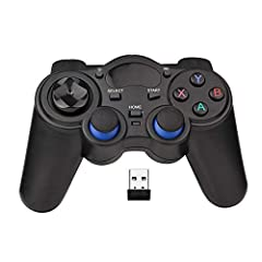 【Wide Compatibility】Wireless gaming controller supports PC (Windows XP/7/8/8.1/10), PS3, Steam, Android (version 4.0 or above, the device must fully support OTG function) 【2.4G Wireless Transmission】2.4G Wireless Transmission Technology (with USB rec...