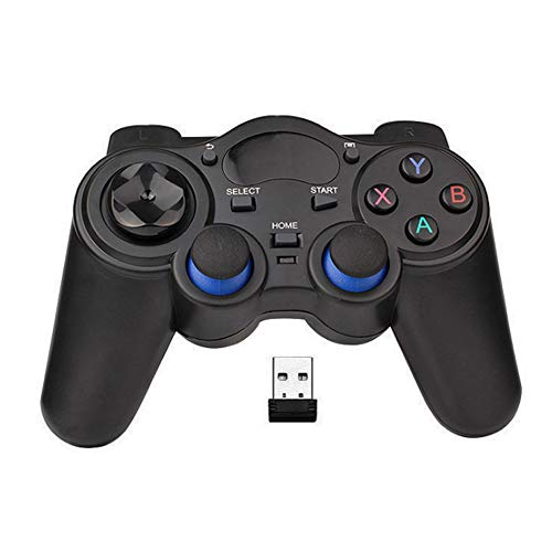 USB Wireless Gaming Controller Gamepad for PC/Laptop Computer(Windows XP/7/8/10) & PS3 & Android & Steam - [Black] (Black)
