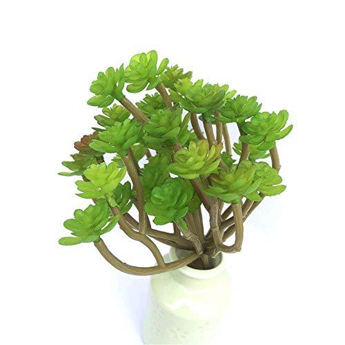 930318 Sala de Estar Plantas Artificiales 3 unids Simulación Suculenta Potted Flor Artificial Mesa de Comedor TINGG