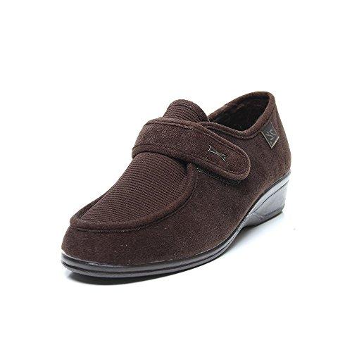 Doctor Cutillas 771 - Zapato Velcro Licra Marrón mujer, color marr?n, talla 38