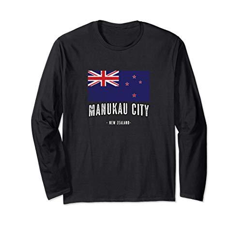 Stadt von Manukau City Neuseeland | NZ Flagge New Zealand - Langarmshirt