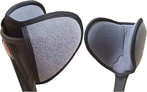 Polster für Gehstütze (2 teil.) Gehhilfe Krücken Unterarmgehstütze - Zubehör gegen Reibung Druck Kissen Puffer für Ellenbogen Unterarm Oberarm