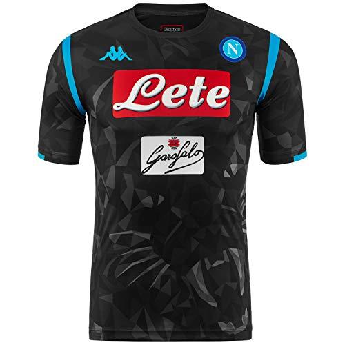 SSC Napoli Camiseta de juego visitante réplica negra fantasía, negro, l