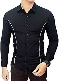 LionRoar Men's Solid Casual Full Sleeves Cotton Shirt