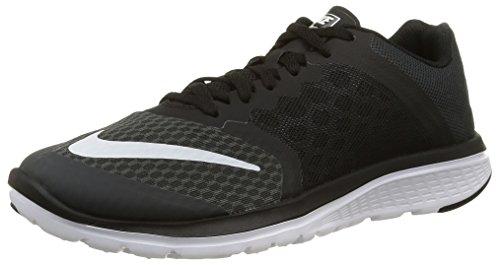 Nike Damen WMNS FS Lite Run 3 Laufschuhe, Anthrazit Weiß Schwarz, 38.5 EU
