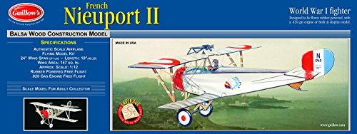 GUILLOW's Nieuport II 203 Powered Balsa Flying Model Kit