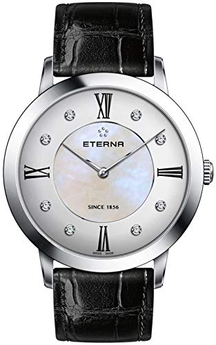 Eterna Damen Uhr analog Quarzwerk mit Leder Armband 2711.41.66.1394