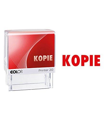 COLOP 100671 Textstempel Printer 20 mit Text KOPIE, Abdruckfarbe rot