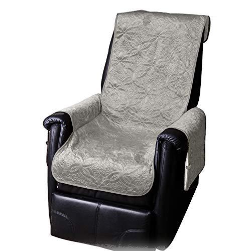 JEMIDI Sesselschoner mit Seitentaschen Lammflor Sesselschoner Sesselauflage Überwurf Sesselüberwurf Sesselbezug Polster Sofaüberwurf Sesselschützer Sesselbezug Schonbezug (Hellgrau)