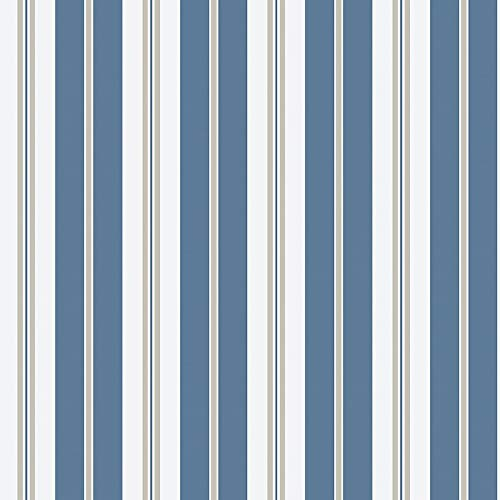 Coordonne Papel de Parede Risca de 2 Cores Azul A30917981