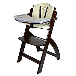 Abiie Beyond Wooden High Chair with Tray. The Perfect Seating Highchair Solution for Your Child As Toddler's or a Dining Chair (6 Months up to 250 Lb).