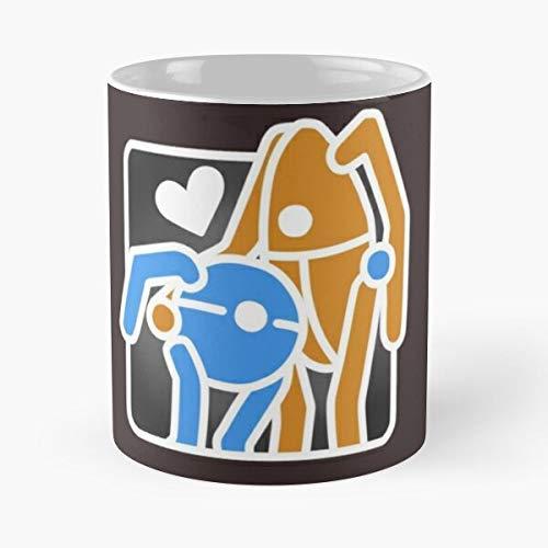 2 Hug Atlas Body Orange Love P Blue Portal Best Tasse fasst Hand 325 ml aus Marmor-Keramik