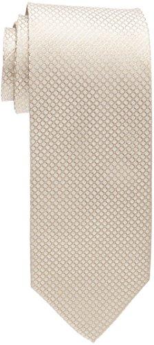 Calvin Klein Men's Steel Micro Solid A Tie, Taupe, Regular