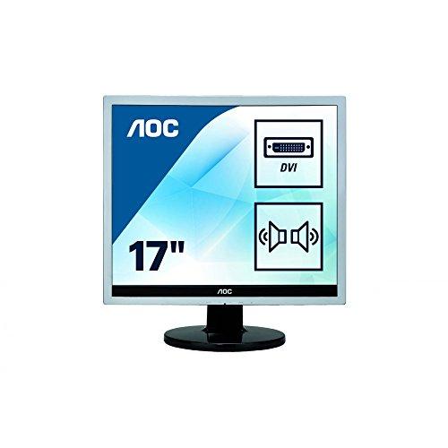 AOC E719SDA 43,2 cm (17 Zoll) Monitor (VGA, DVI, 1280 x 1024, 60 Hz) silber