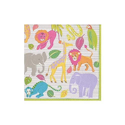 Confezione da 20-3 Strati 33 x 33 cm Caspari Amala Ikat Colore: Grigio