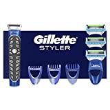 Gillette Styler Afeitadora Multiusos Maquinilla de Afeitar Hombre, Perfiladora + 2 Cuchillas de Recambio + 3 Cabezales (El Diseño Exterior del Paquete Puede Variar)