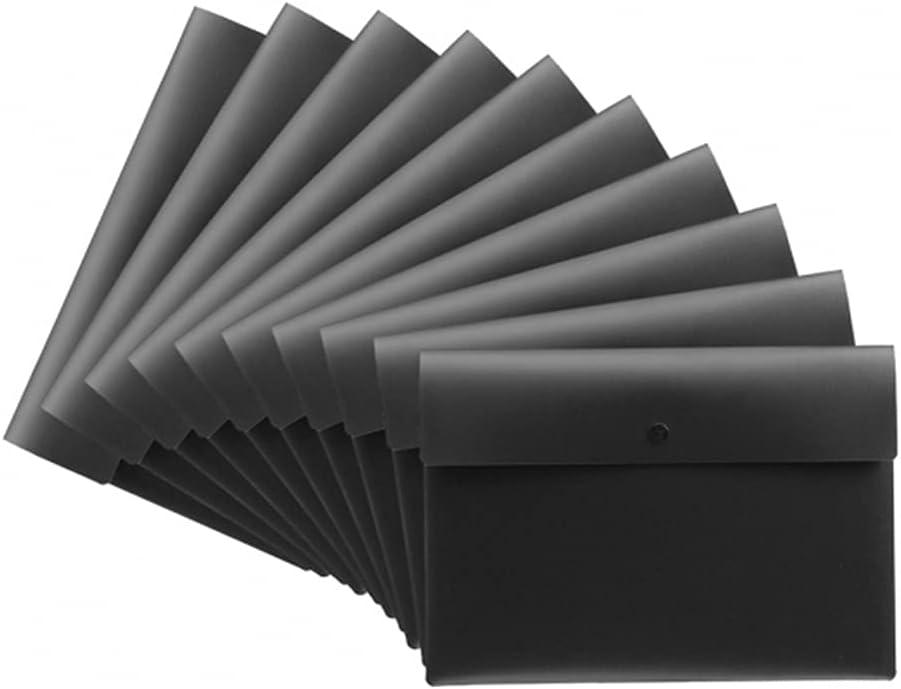 Plastic File Folders Organizer Envelopes Cheap mail Nippon regular agency order sales Closu Snap with