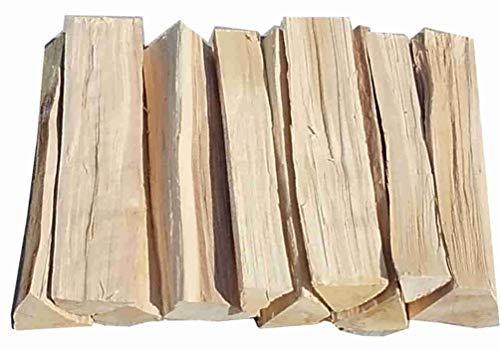 Smokerholz 100 kg Birke ohne Rinde ofenfertig Brennholz Kaminholz Brennholz Grillholz