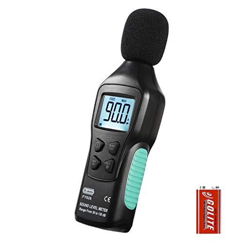 Dr.meter 騒音計 LCD騒音計 デジタル騒音計 騒音レベル測定 小型 30dB~130dB 電池付属 防風スポンジ 工事現場 交通道路 学校 住宅 オフィスなどの騒音測定 日本語取扱説明書付き