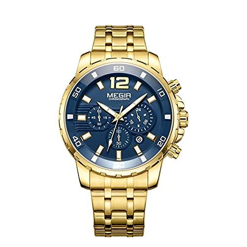 Cronógrafo de cuarzo hombres reloj Top marca de lujo ejército Militar relojes hombres Relogio masculino negocios reloj, dorado,
