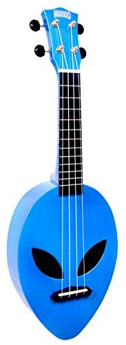 Mahalo Ukuleles Mahalo Creative Series Ukulele, diestro, azul metálico, soprano (MC1AL mbu)
