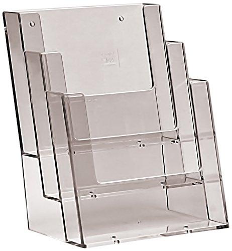 TAYMAR® Tisch-Prospekthalter/Flyerständer 3-Fach DIN A5, glasklar (3C160)