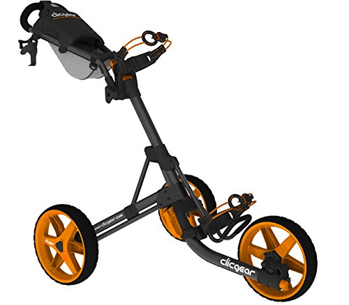 Clicgear Erwachsene 3.5 Golftrolley, Charcoal/Orange, One Size