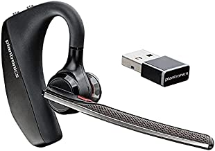 Plantronics - Voyager 5200 UC (Poly) - Bluetooth Single-Ear (Monaural) Headset - USB-A Compatible to connect to your PC and/or Mac - Works with Teams, Zoom & more - Noise Canceling