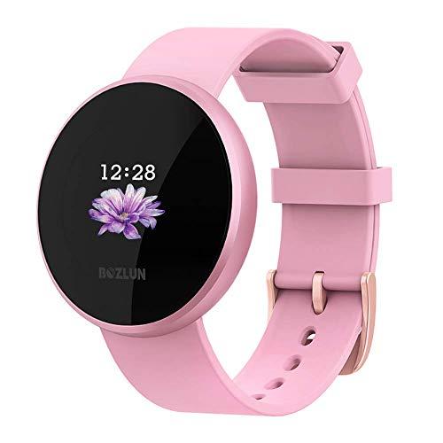 Smartwatch, Reloj Inteligente Mujeres Hombres Impermeable IP68, Pulsera de Actividad Inteligente Fitness Activity Tracker Podómetro para Android IOS (Rosado)