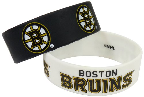NHL ボストン・ブルーインズ シリコンラバーブレスレット 2個パック