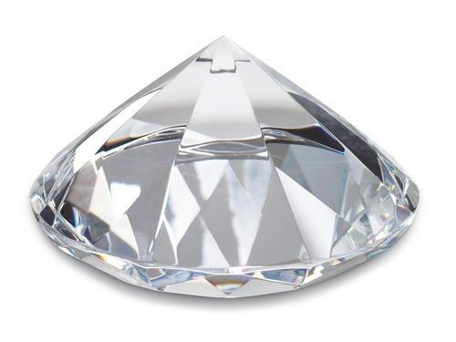 REFLECTS Dekodiamant 80mm Hochzeitsdeko Dekostein Briefbeschwerer Glasdiamant Briefgewicht 8cm