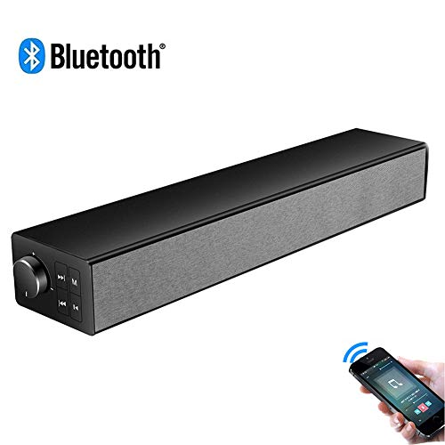 Speaker-EJOYDUTY draadloze luidspreker met Bluetooth 5.0 thuisbioscoopsysteem, 20 W stereo sound bar voor PC, met geïntegreerde subwoofer, voor TV, PC, mobiele telefoon
