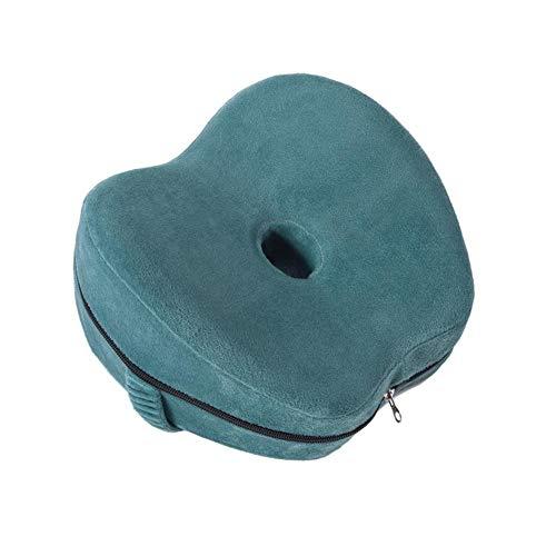 biteatey Almohada de pierna con memoria transpirable con funda lavable para dolor de espalda, caderas, rodillas