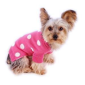 Stinky G Polka Dot Dog Sweater French Pink Size #08